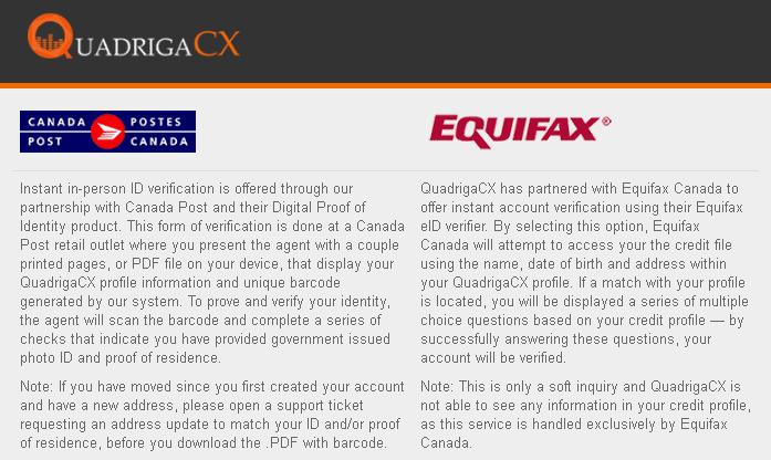 quadrigacx poste canada equifax
