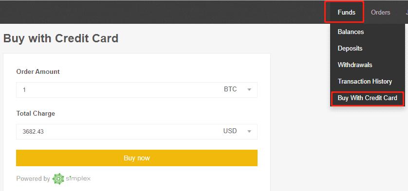 binance carte de crédit