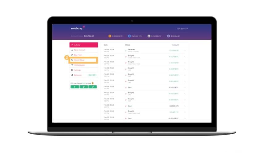 coinberry plateforme trading crypto