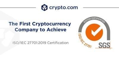 Crypto-com Certification ISO 27701:2019