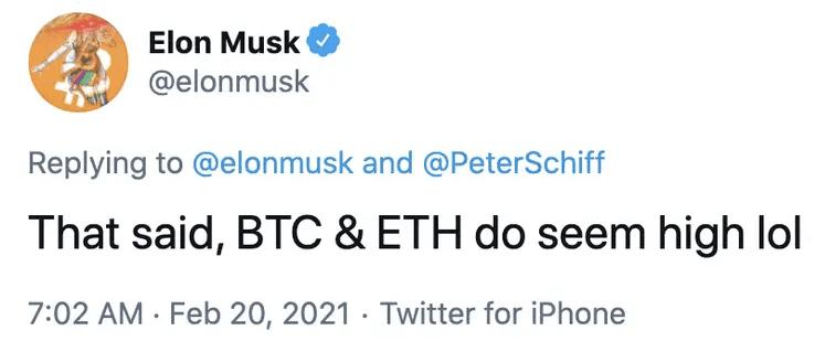 elon musk twitter bitcoin ethereum