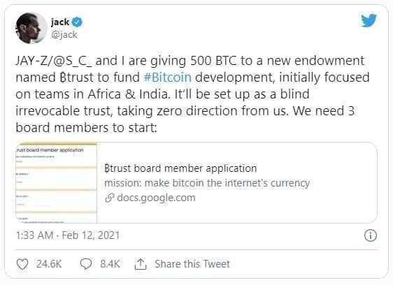 jack dorsey twitter bitcoin btc jay-z