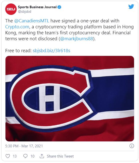 Canadiens de Montréal Crypto.com