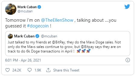 mark cuban twitter dogecoin