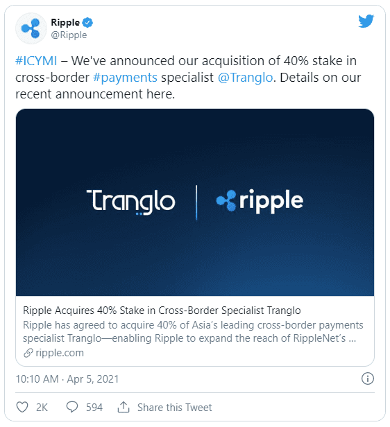 ripple twitter xrp tranglo