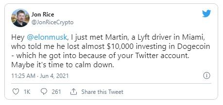Elon Musk Twitter Dogecoin Jon Rice