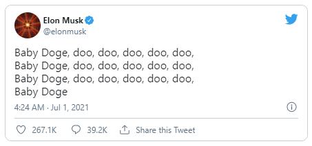elon musk twitter baby doge coin